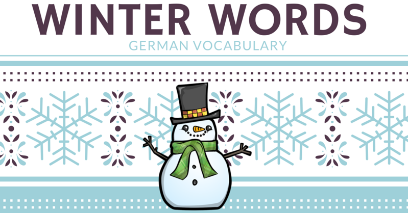 Beginner Vocabulary: Winter words - German Made Easy